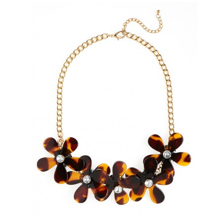 Tortoise Bloom Bib From BaubleBar